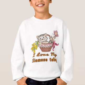 I Love My Siamese tabby Sweatshirt