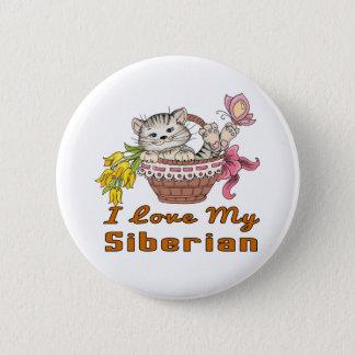 I Love My Siberian 6 Cm Round Badge
