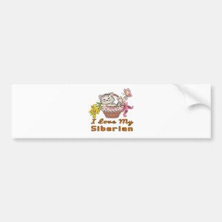 I Love My Siberian Bumper Sticker
