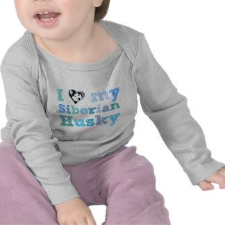 I Love My Siberian Husky Baby Tee