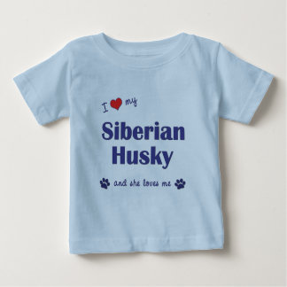 I Love My Siberian Husky (Female Dog) T Shirt