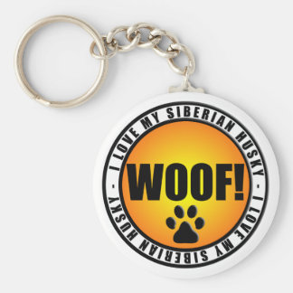 I Love My Siberian Husky! keychain