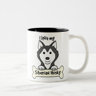 I Love My Siberian Husky Coffee Mug