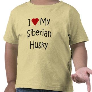 I Love My Siberian Husky Shirt for Dog Lovers