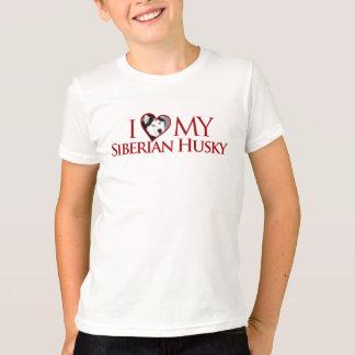I Love My Siberian Husky T-shirt