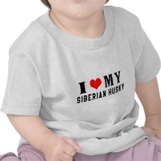 I Love My Siberian Husky Tee Shirt
