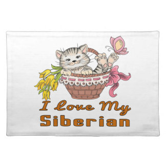 I Love My Siberian Placemat