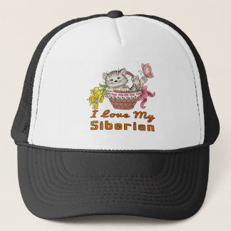 I Love My Siberian Trucker Hat