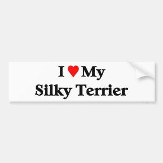 I love my Silky Terrier Bumper Sticker