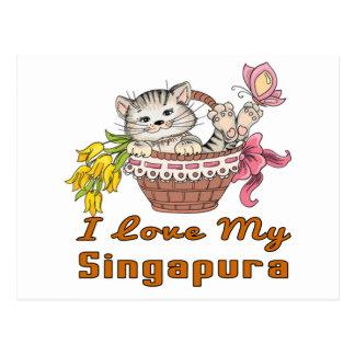 I Love My Singapura Postcard