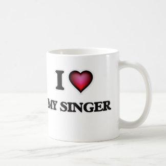 I Love My Singer Coffee Mug