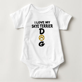 I Love My Skye Terrier Dog Designs Baby Bodysuit