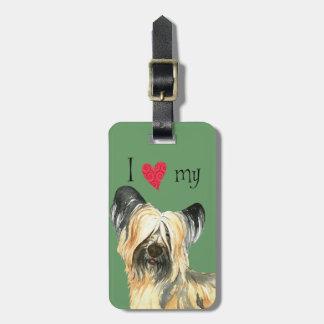 I Love my Skye Terrier Luggage Tag