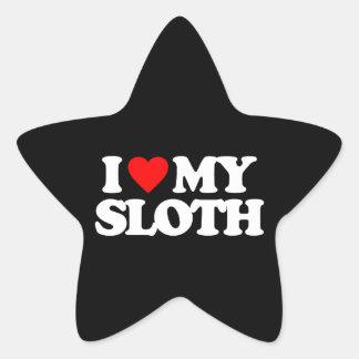 I LOVE MY SLOTH STAR STICKER