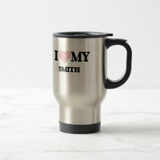 I love my Smith (Heart Made from Words) Stainless Steel Travel Mug