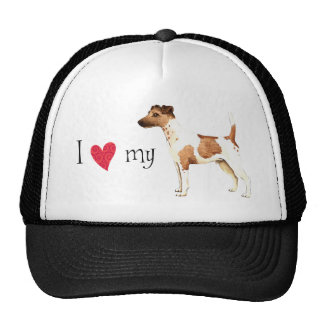I Love my Smooth Fox Terrier Cap
