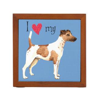I Love my Smooth Fox Terrier Desk Organisers