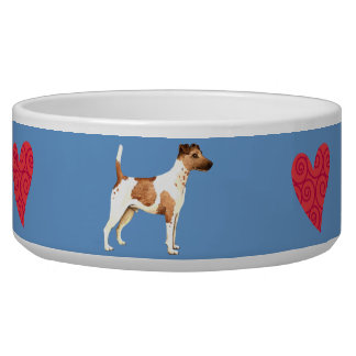 I Love my Smooth Fox Terrier Pet Food Bowl