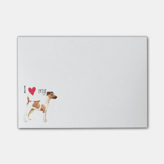 I Love my Smooth Fox Terrier Sticky Notes