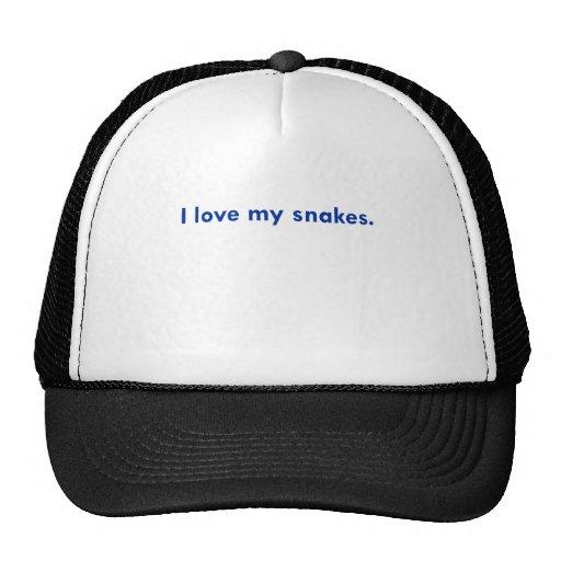 I love my snakes trucker hats