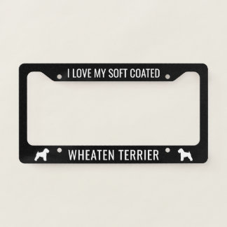 I Love My Soft Coated Wheaten Terrier Custom Licence Plate Frame