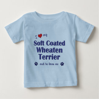 I Love My Soft Coated Wheaten Terrier (Male Dog) Baby T-Shirt