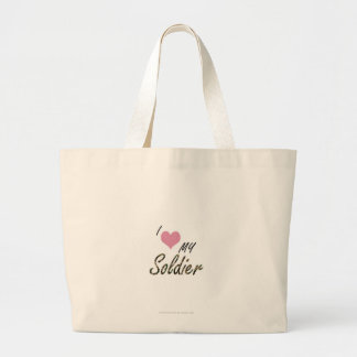 I love my soldie jumbo tote bag