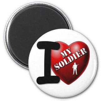 I Love My Soldier 6 Cm Round Magnet
