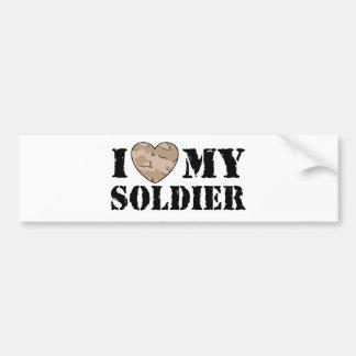I Love My Soldier Bumper Stickers