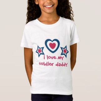I love my soldier daddy mommy - 4th of July T-Shirt