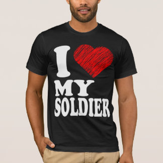 I Love My Soldier Heart Art Remix (Tee) T-Shirts