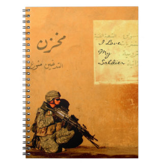 I Love My Soldier Military Love Note On the Wall Notebooks