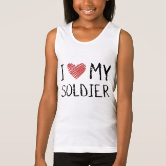 I Love My Soldier Singlet