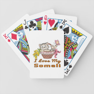 I Love My Somali Bicycle Playing Cards
