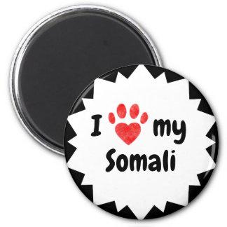 I Love My Somali Cat Magnet