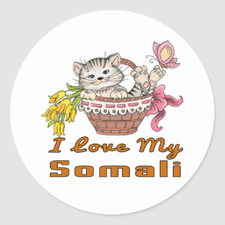 I Love My Somali Classic Round Sticker