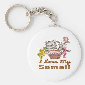 I Love My Somali Key Ring