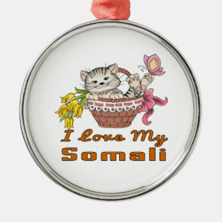 I Love My Somali Metal Ornament