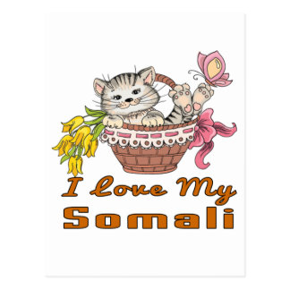 I Love My Somali Postcard