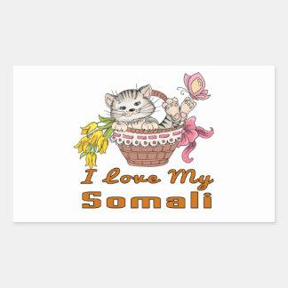 I Love My Somali Rectangular Sticker