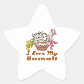 I Love My Somali Star Sticker