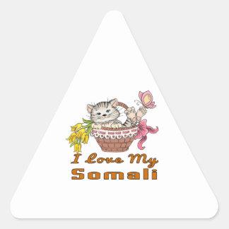 I Love My Somali Triangle Sticker