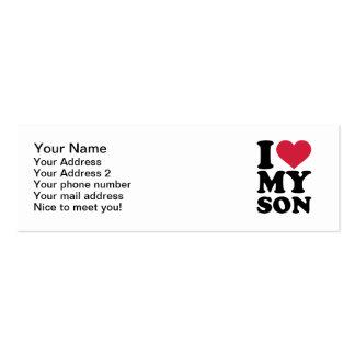 I love my son business card