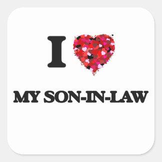 I love My Son-In-Law Square Sticker