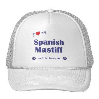 I Love My Spanish Mastiff Male Dog Mesh Hat