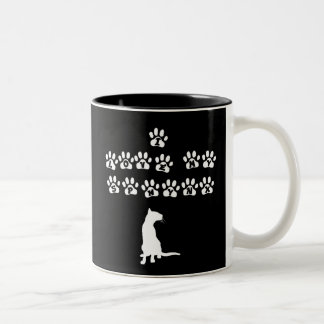I Love My Sphynx--White Text Two-Tone Coffee Mug
