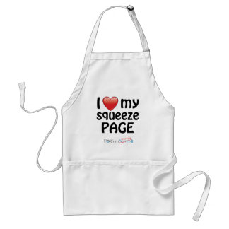 I Love My Squeeze Page Aprons