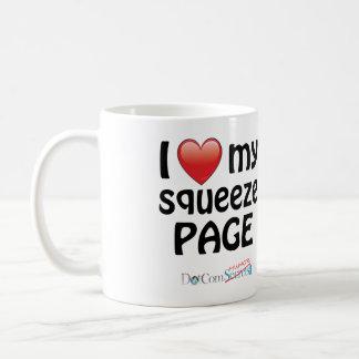 I Love My Squeeze Page Basic White Mug