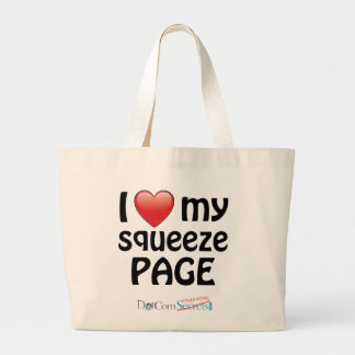 I Love My Squeeze Page Tote Bags