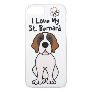 I Love My St. Bernard iPhone 7 Case
